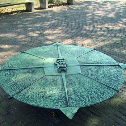 Kupferdenkmal Windrose