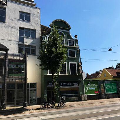 Ein altes, schmuckvolles Kapitänshaus in der Faulenstraße; Quelle: WFB - JUA