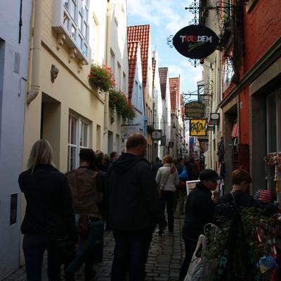 Buntes Treiben im Schnoorviertel. Quelle: WFB - Katharina Müller