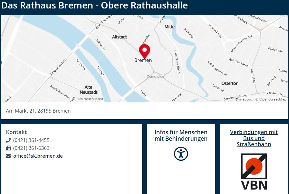 Grafik Visitenkarte Rathaus