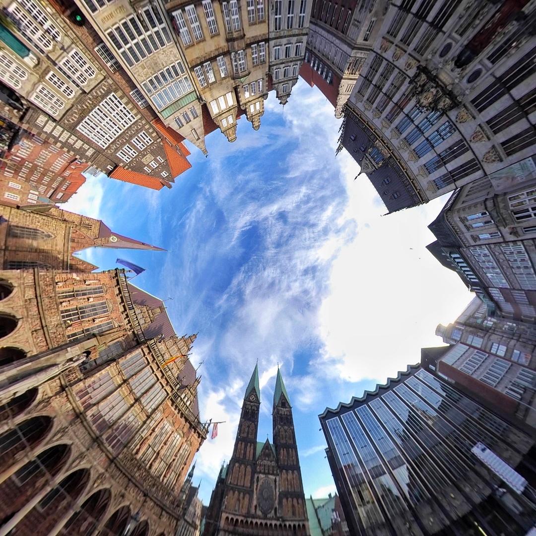 360 Grad-Aufnahme des Bremer Marktplatzes