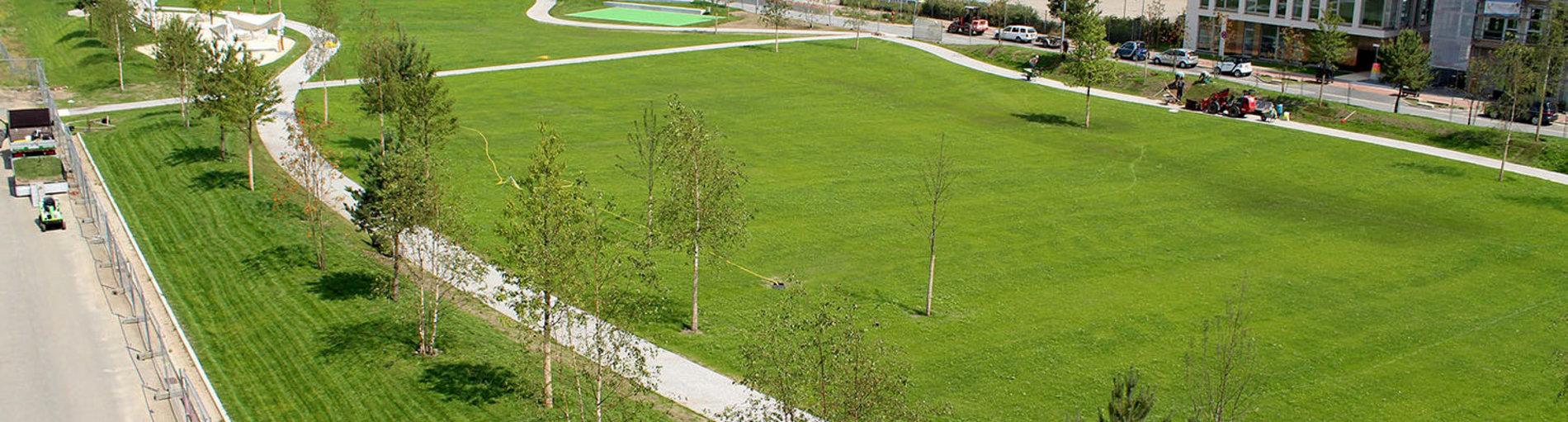 Der neue Überseepark in Bremen aus der Luft