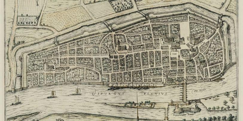 Ein sehr alter Plan der Stadt Bremen