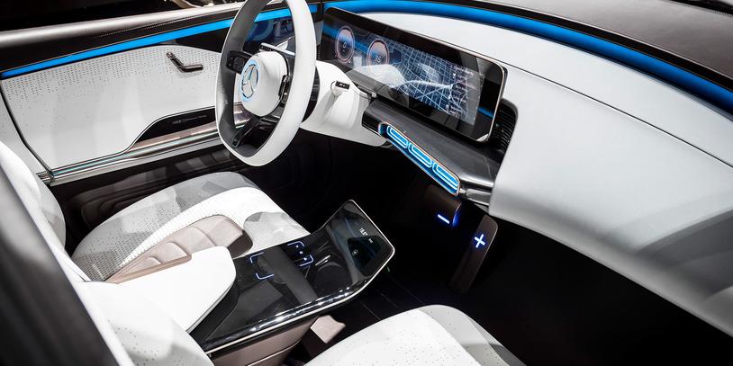 """Innenansicht des """"Generation EQ"""" von Mercedes-Benz (Quelle: Daimler AG)"""