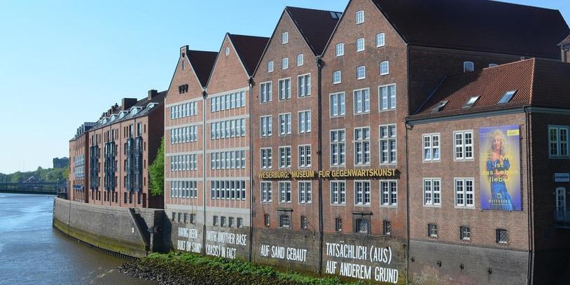 Die Weserburg an der Weser.