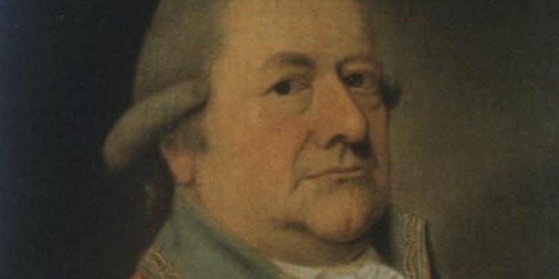 Ein Porträt von einem Mann in roter Uniform