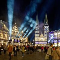 Ansicht des Marktplatzes während des Musikfestes