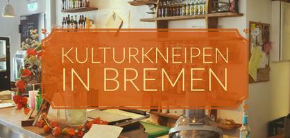 Ein Tresen in einem Café, im Hintergrund Regale mit Gläsern, auf dem Bild die Aufschrift Kulturkneiben in Bremen; Quelle: privat/MDR