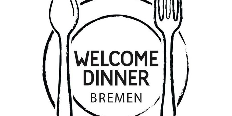 """Das offizielle Logo vom """"Welcome Dinner Bremen"""". Quelle: Johannes Ben Jurca / Welcome Dinner Bremen"""