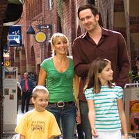 Eine Familie in der Böttcherstraße