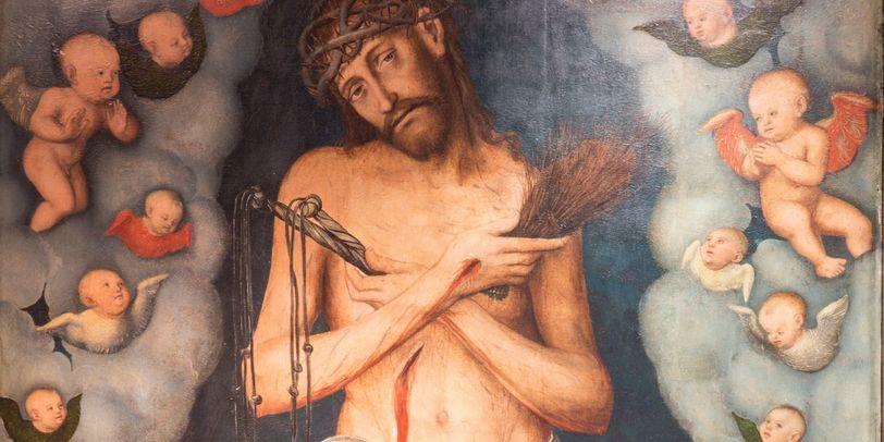 """Das Gemälde """"Der Schmerzensmann"""" im Dom-Museum zeigt eine Jesus-Darstellung"""