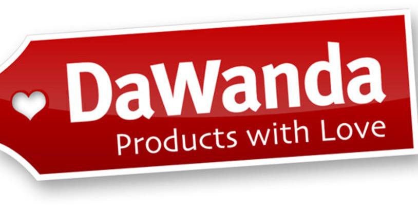 Rot-weißes Logo des Online-Marktplatzes DaWanda
