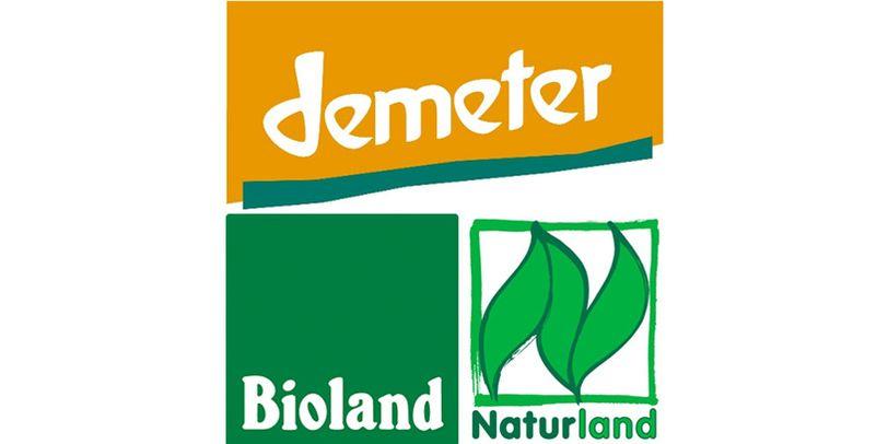 Siegel der Bio-Verbände Demeter, Bioland und Naturland