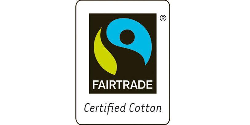 Das Fairtrade-Siegel von Transfair für Baumwollprodukte.