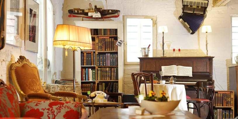 Ein Einblick in das Café Erlesenes.