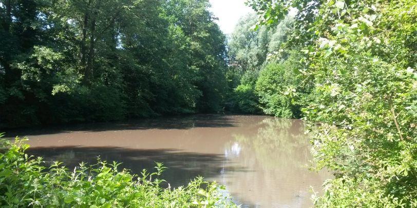 Einer der Seen in der Grünanlage Blockdiek