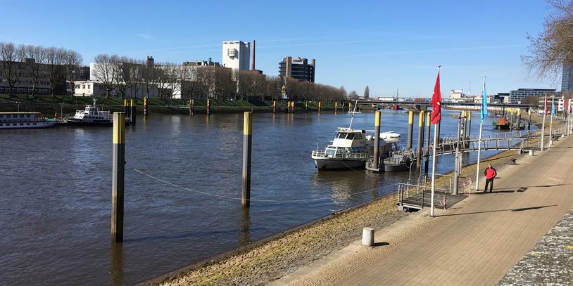 Ein Blick auf die Weser von der Schlachte.