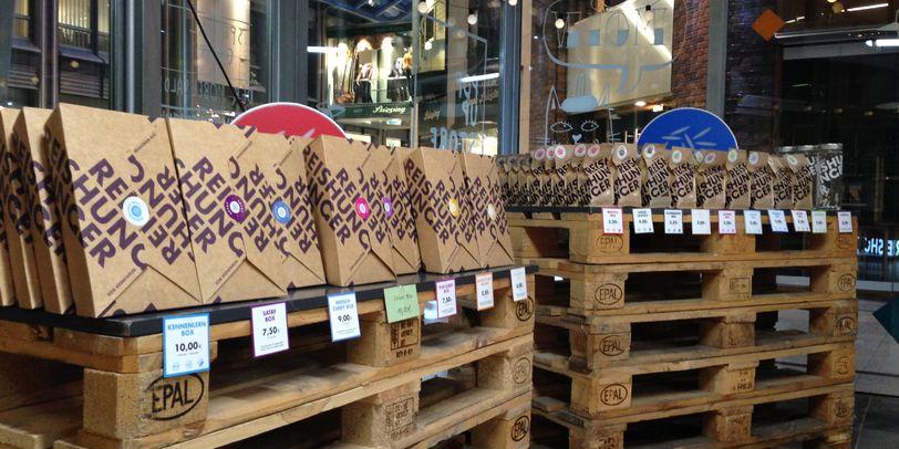 Außenansicht des Pop-Up Stores Reishunger in der Katharinenpassage.