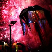 Kultur Vor Ort - Erzählfestival Feuerspuren mit Feuerwerk.
