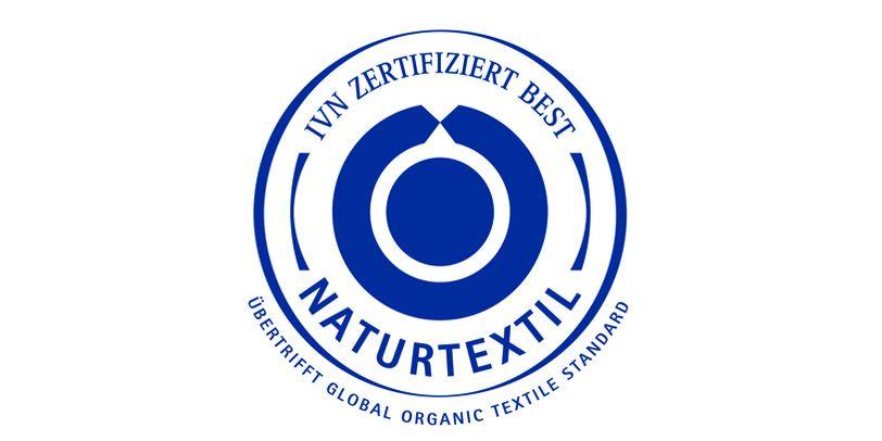 Das Siegel des Internationalen Verband der Naturtextilwirtschaft.