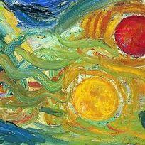 Josef Scharls Landschaft mit drei Sonnen, 1925, Kunsthalle Emden