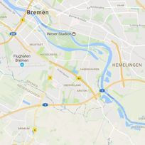 Ein Kartenausschnitt von Bremen