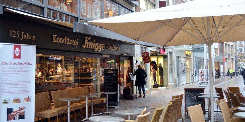 Konditorei Knigge in der Sögestraße Außenansicht