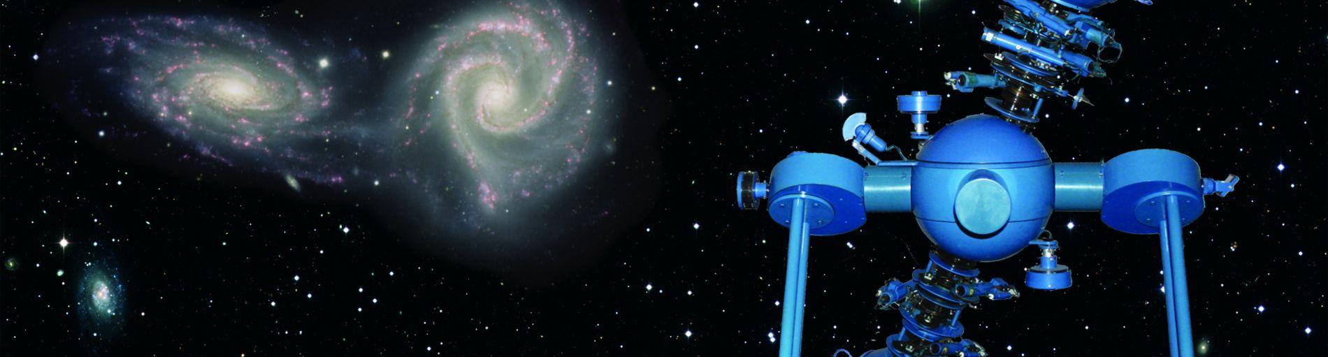 Die Sternwarte im Nachthimmel