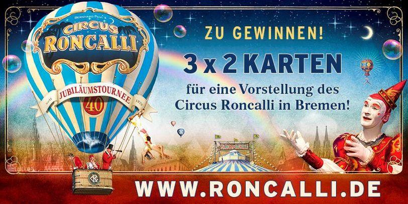 Karten für Circus Roncalli zu gewinnen