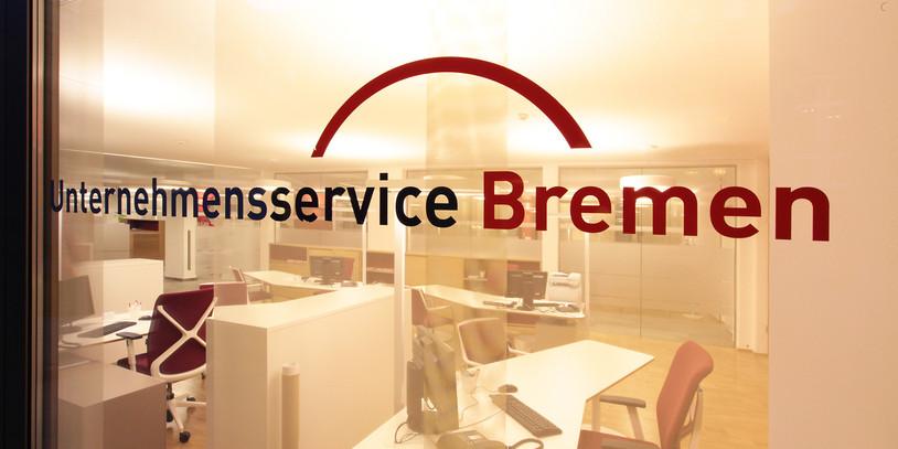 Blick in das Büro vom Unternehmensservice Bremen
