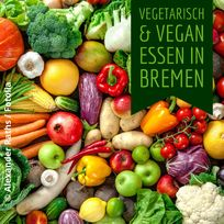 Buntes Gemüse. Oben rechts ist ein grünes Logo mit hellgrünem Schriftzug zu sehen.