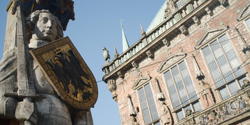 Roland und Rathaus von Bremen