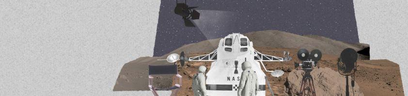 Filmkulisse mit Raumfahrtszene