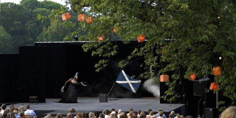 Bühne in einem Park