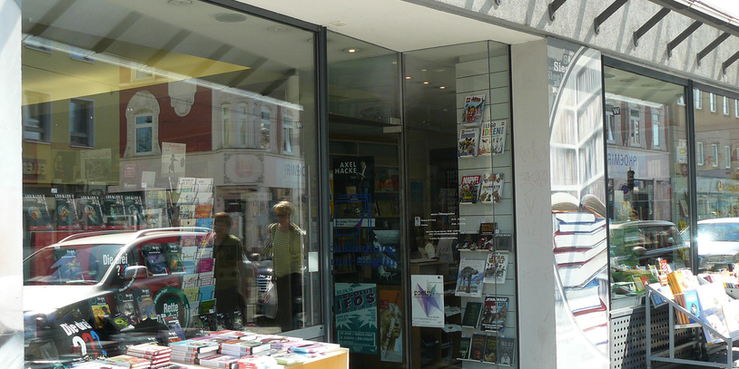 Außenansicht der Buchhandlung Sieglin