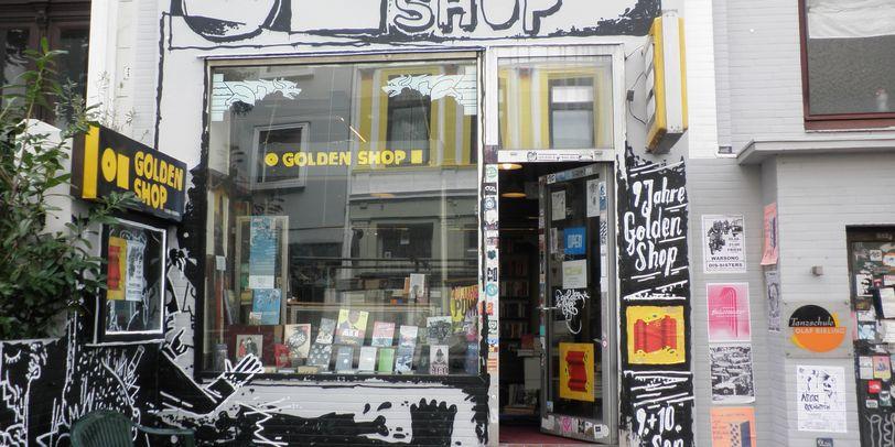 Das Musikgeschäft The Golden Shop von außen