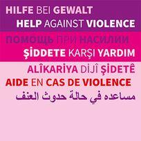 """Das Logo zum Telefon """"Hilfe bei Gewalt""""; Quelle: ZGF Bremen"""