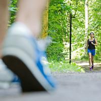 Auf der Finnbahn im Bürgerpark macht das Joggen gleich noch viel mehr Spaß!