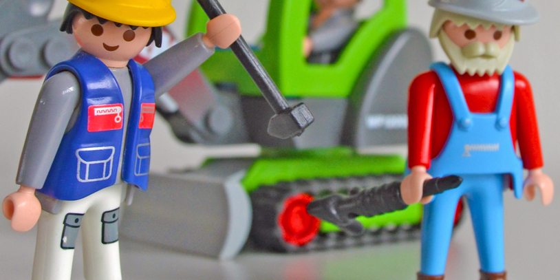 Playmobil-Bauarbeiter
