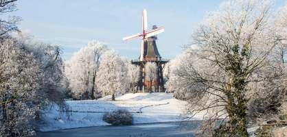 Die Wallmühle im Schnee.