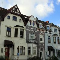 Typisch bremische Häuserreihe