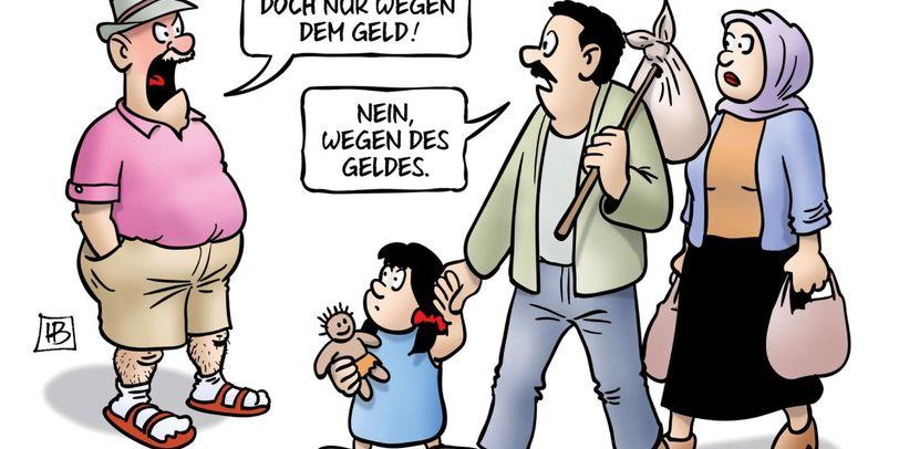 Cartoons gegen Rechts.