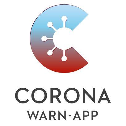 Logo mit Schriftzug: Corona Warn-App