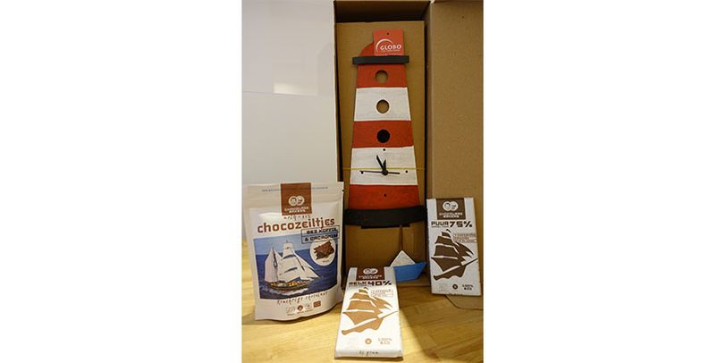 Gewinn Georgs Fairkauf mit Schokolade