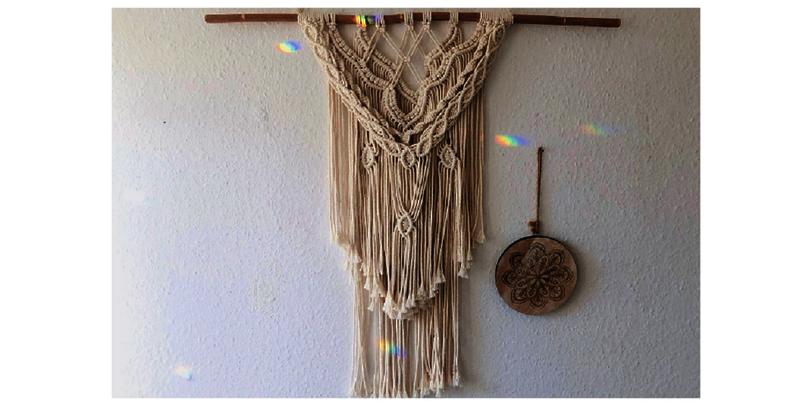 Makramee Wandbehang von Made by Marilena