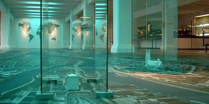 Begehbares Modell des Hafengebiets