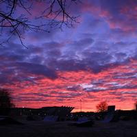 Sonnenaufgang über der Bürgerweide