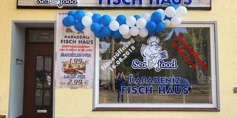 Fassade des Fischimbiss' Karadeniz