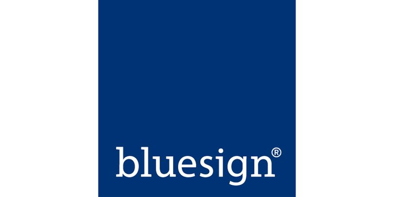 Das blaue Siegel des bluesign-Systems.