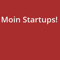 Schriftzug Moin Startups!
